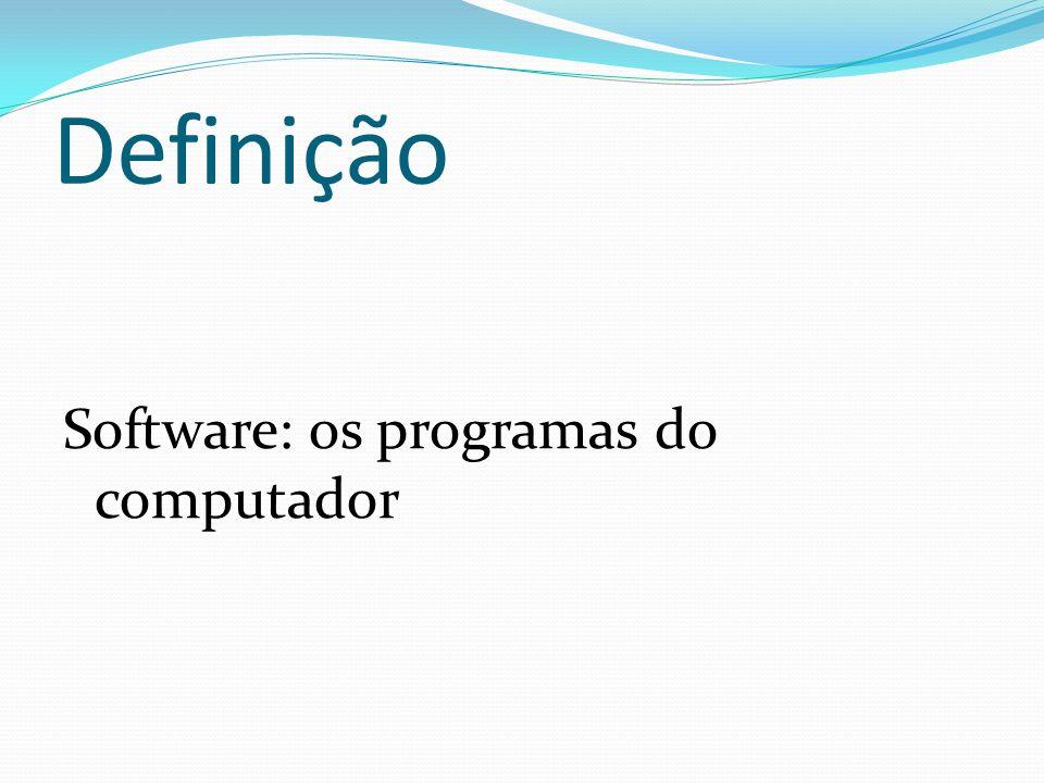 Definição Software: os programas do computador