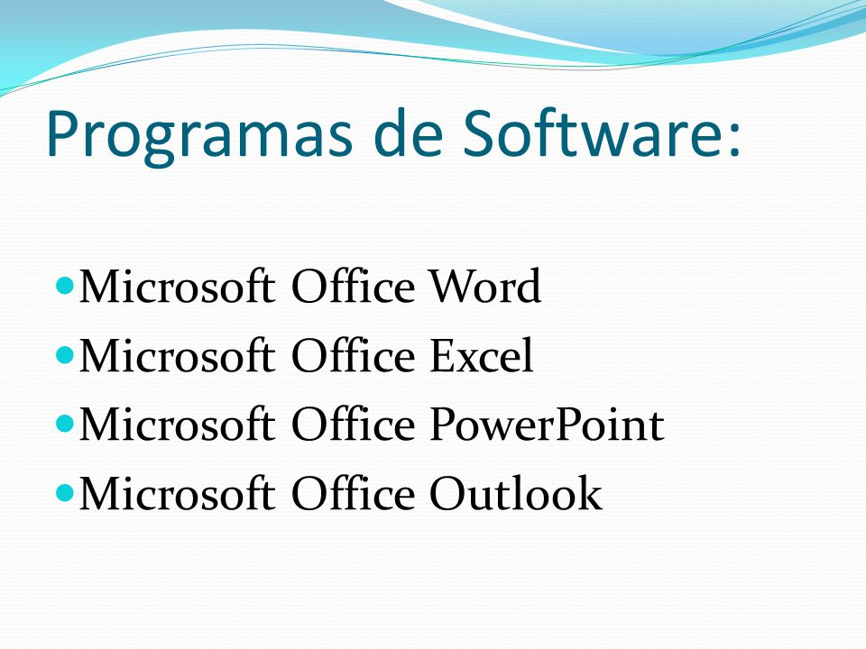 Programas de Software: