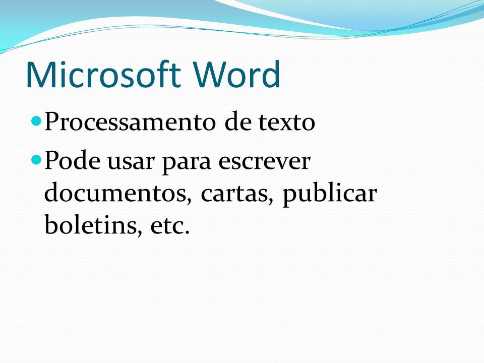 Microsoft Word Processamento de texto