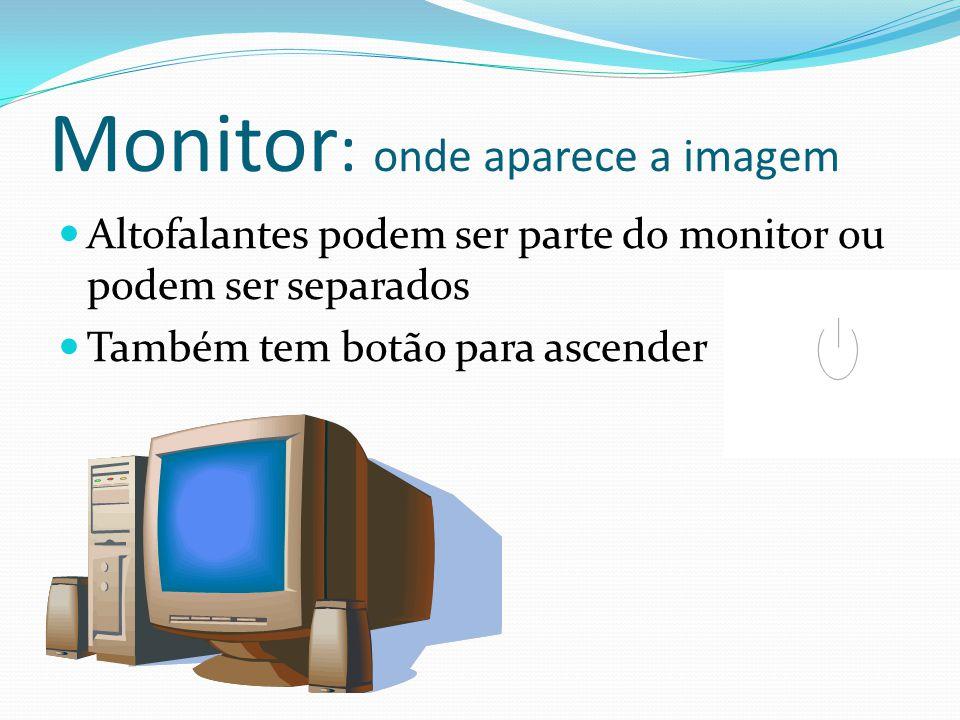 Monitor: onde aparece a imagem