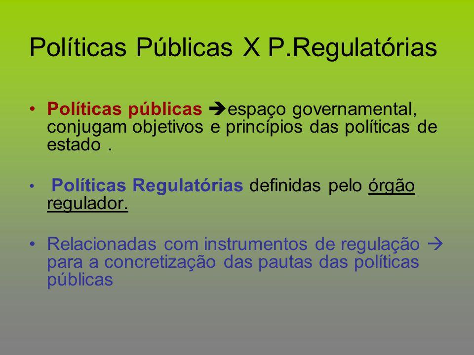 Políticas Públicas X P.Regulatórias
