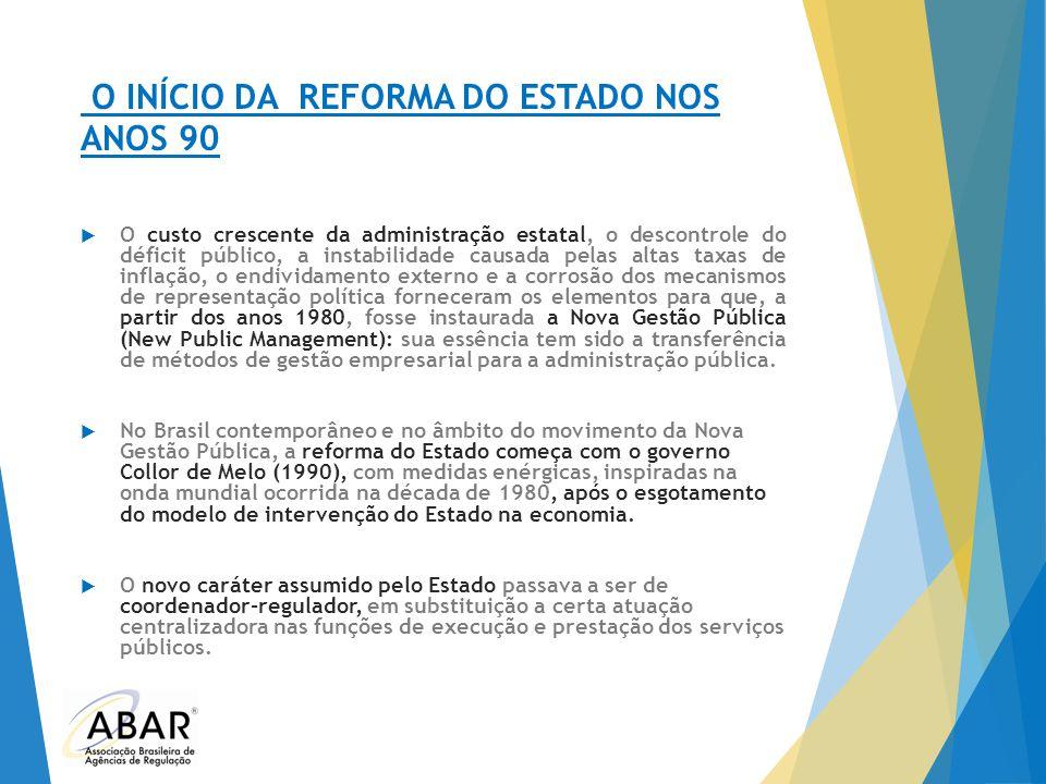 O INÍCIO DA REFORMA DO ESTADO NOS ANOS 90