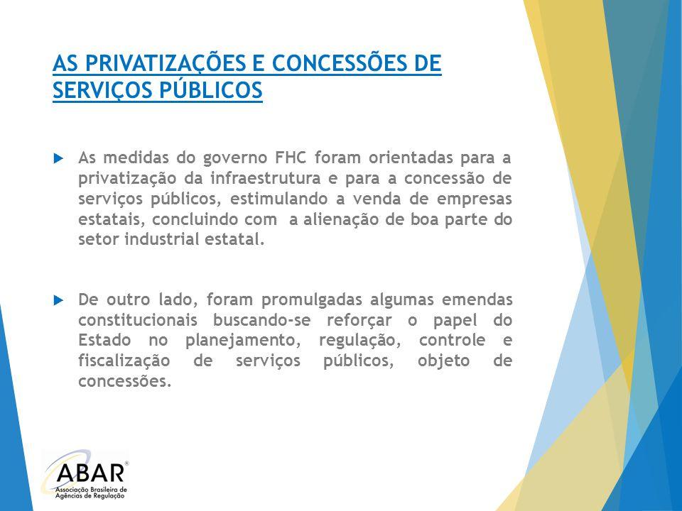 AS PRIVATIZAÇÕES E CONCESSÕES DE SERVIÇOS PÚBLICOS
