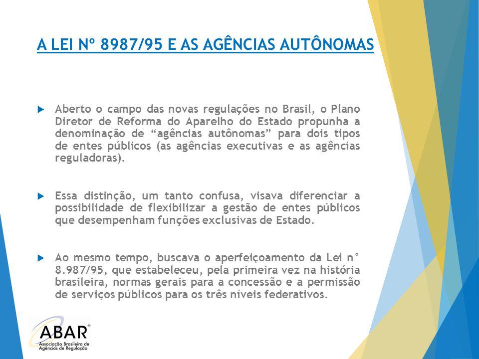 A LEI Nº 8987/95 E AS AGÊNCIAS AUTÔNOMAS