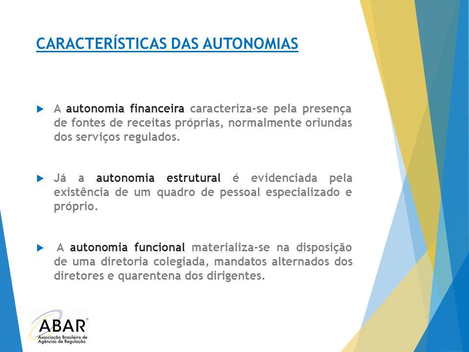 CARACTERÍSTICAS DAS AUTONOMIAS
