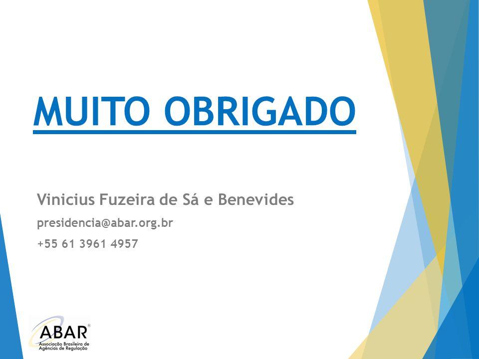 MUITO OBRIGADO Vinicius Fuzeira de Sá e Benevides