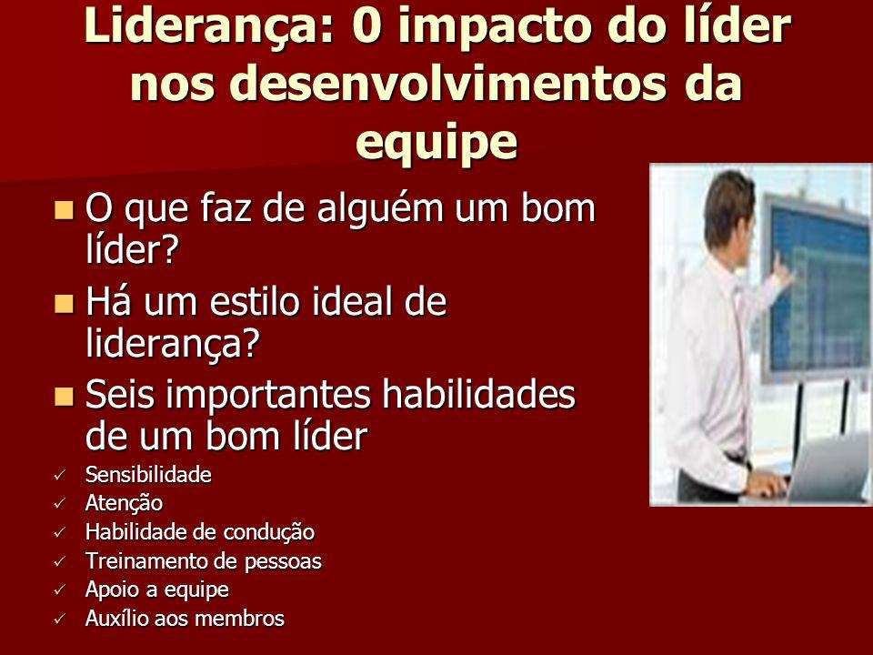 Liderança: 0 impacto do líder nos desenvolvimentos da equipe