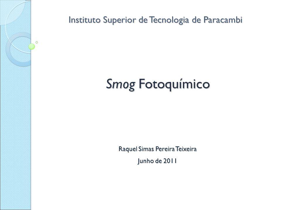 Smog Fotoquímico Instituto Superior de Tecnologia de Paracambi