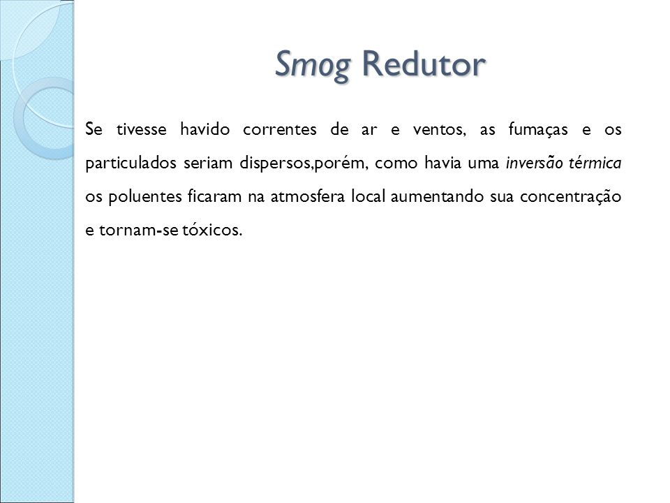 Smog Redutor
