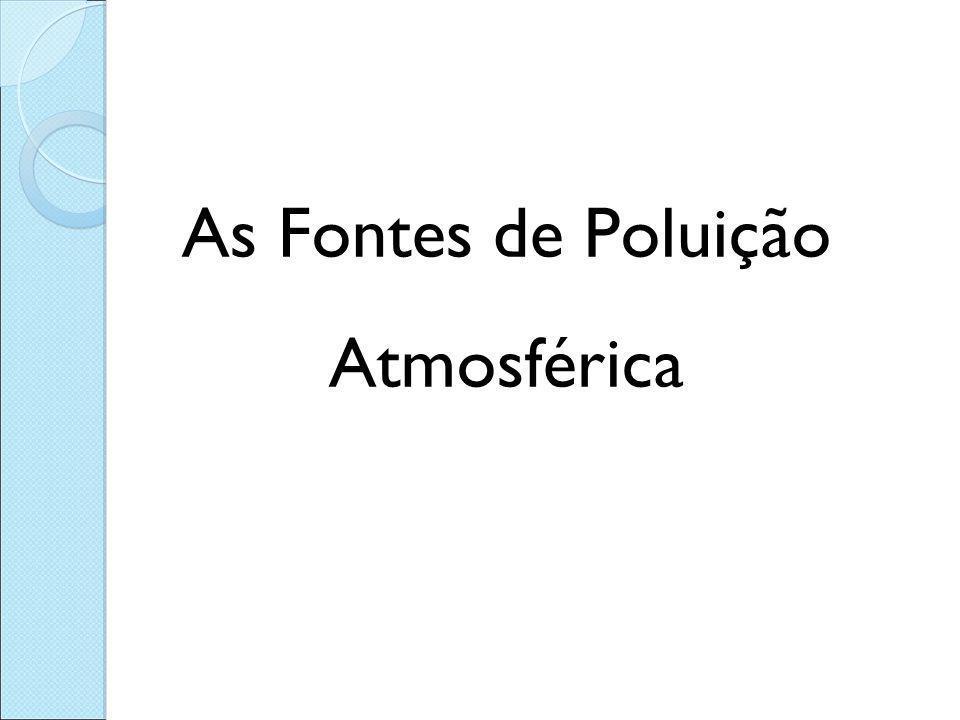 As Fontes de Poluição Atmosférica