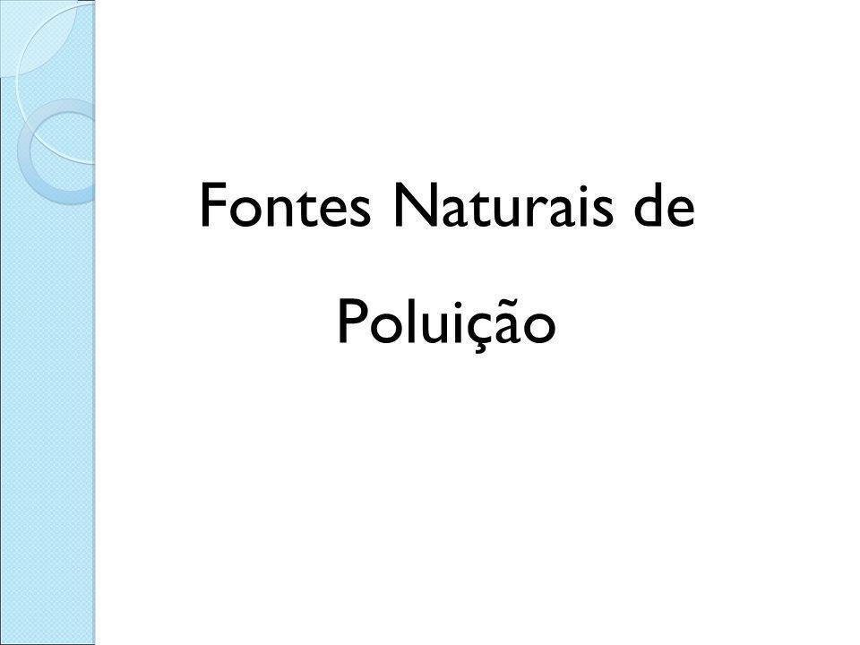 Fontes Naturais de Poluição