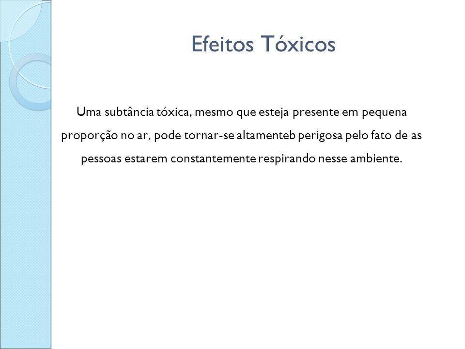 Efeitos Tóxicos