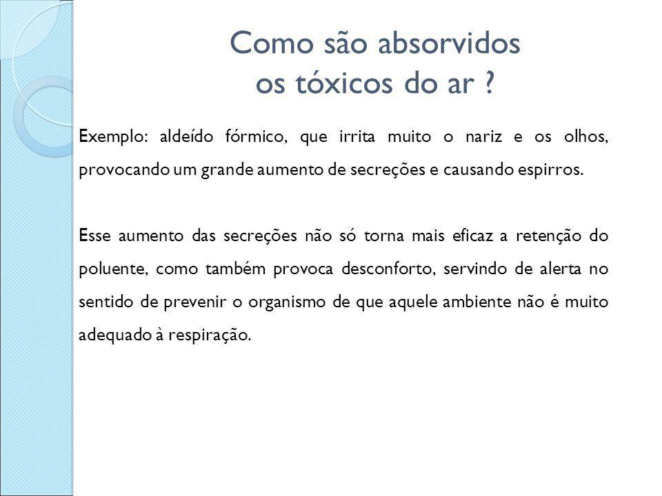 Como são absorvidos os tóxicos do ar