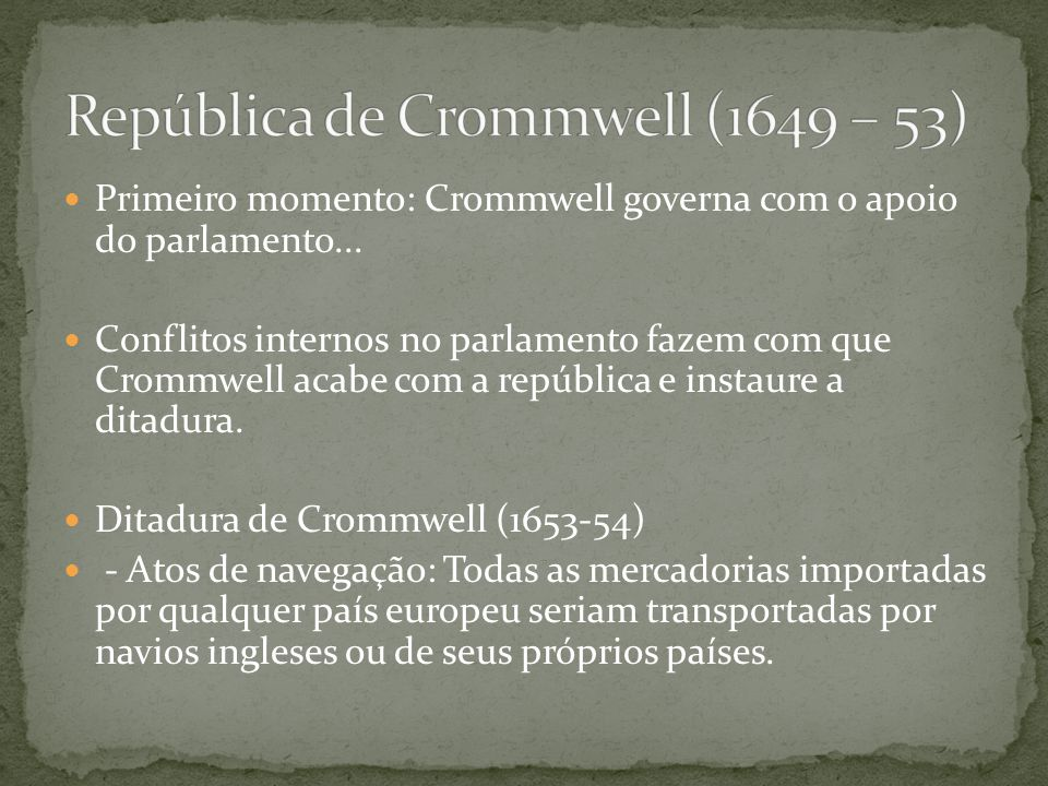 República de Crommwell (1649 – 53)