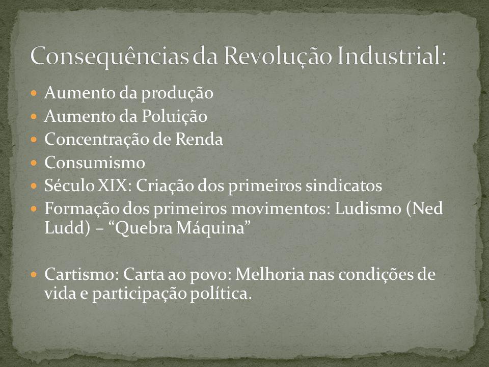 Consequências da Revolução Industrial: