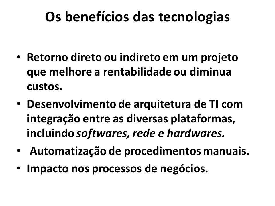 Os benefícios das tecnologias