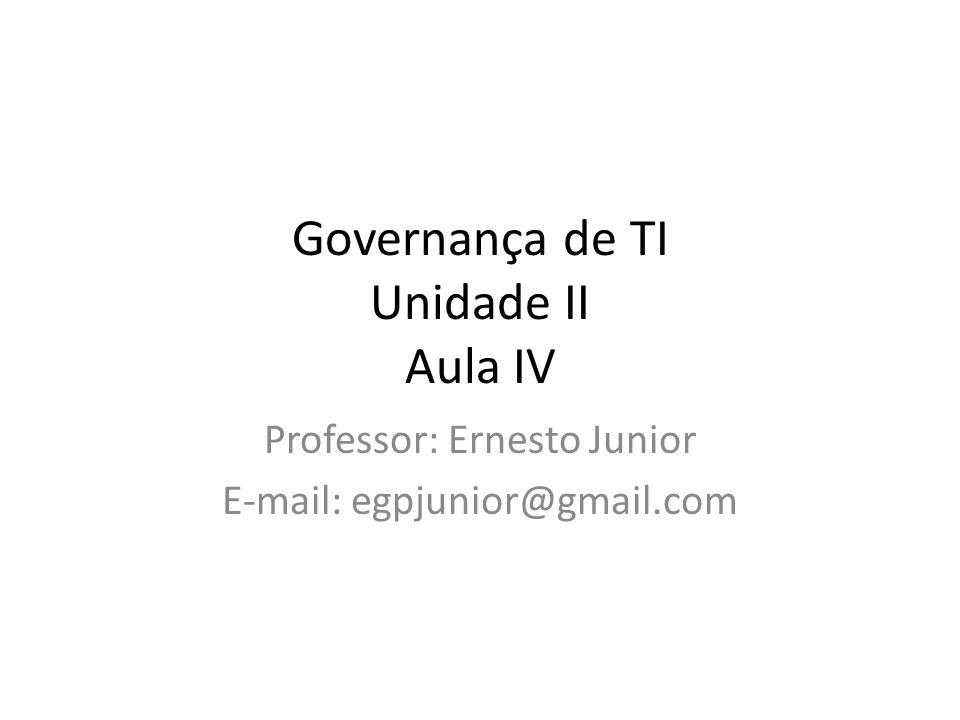Governança de TI Unidade II Aula IV