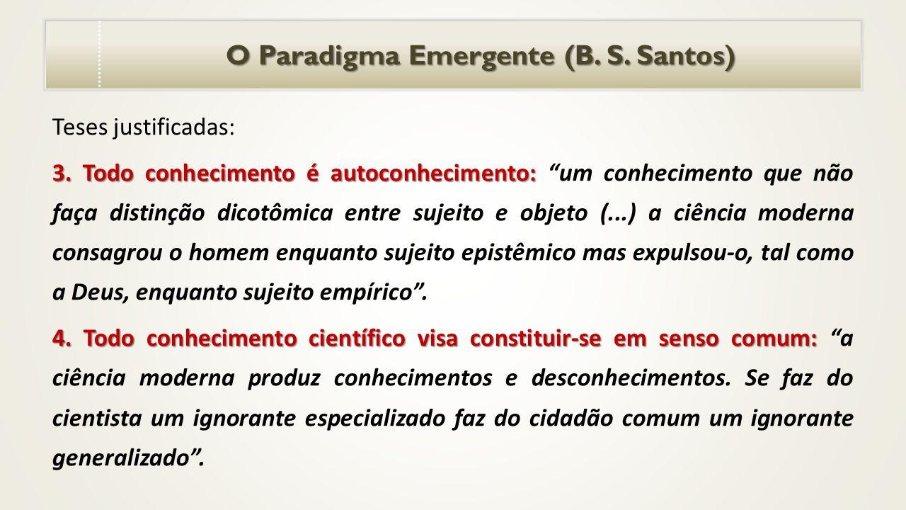 O Paradigma Emergente (B. S. Santos)