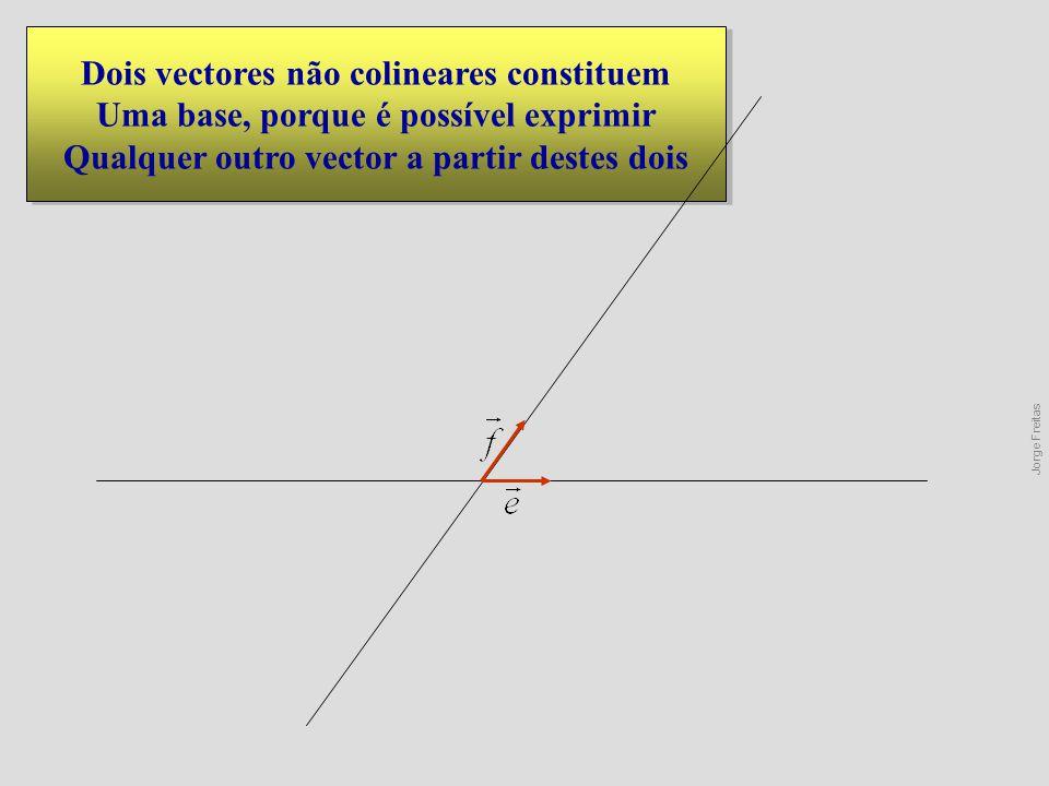 Dois vectores não colineares constituem