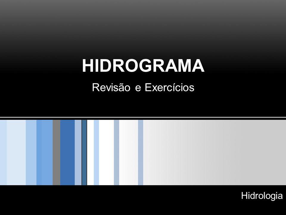 HIDROGRAMA Revisão e Exercícios Hidrologia