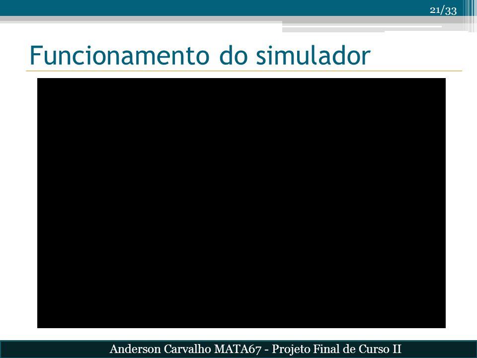 Funcionamento do simulador