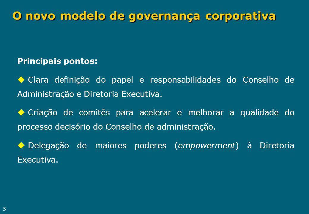 O novo modelo de governança corporativa