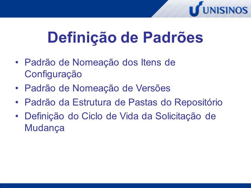 Definição de Padrões Padrão de Nomeação dos Itens de Configuração