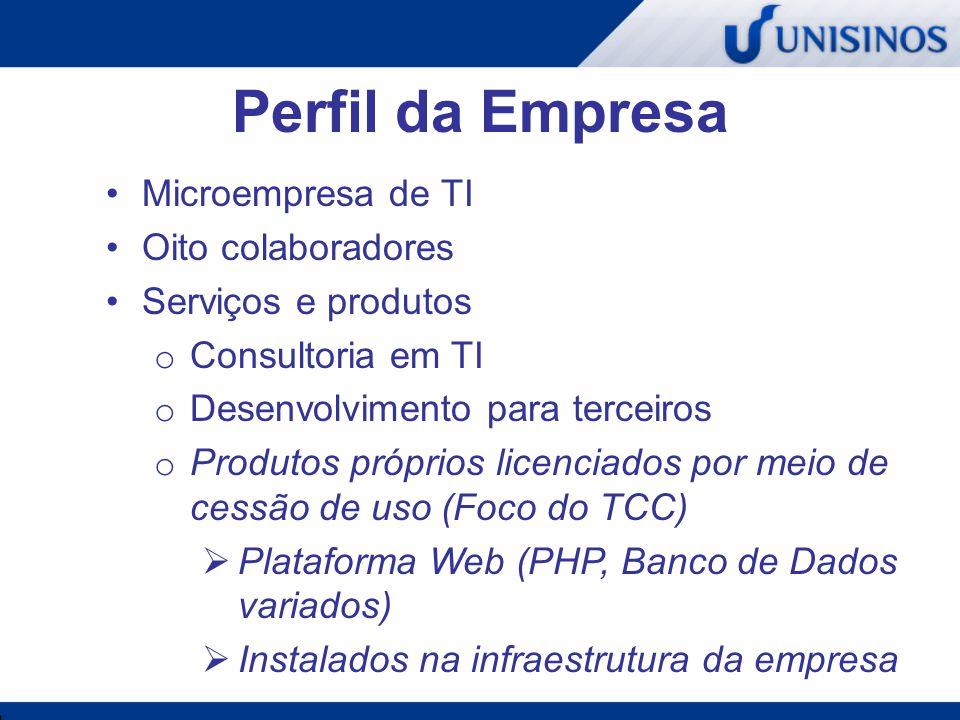 Perfil da Empresa Microempresa de TI Oito colaboradores