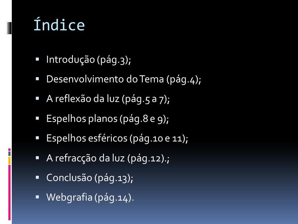 Índice Introdução (pág.3); Desenvolvimento do Tema (pág.4);