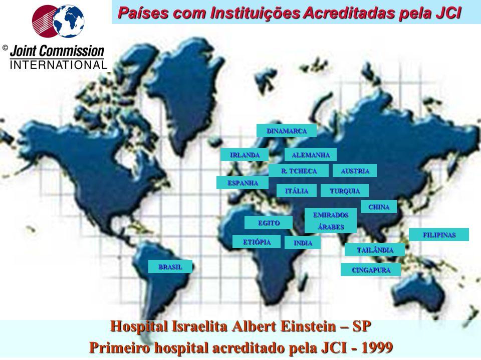 Países com Instituições Acreditadas pela JCI