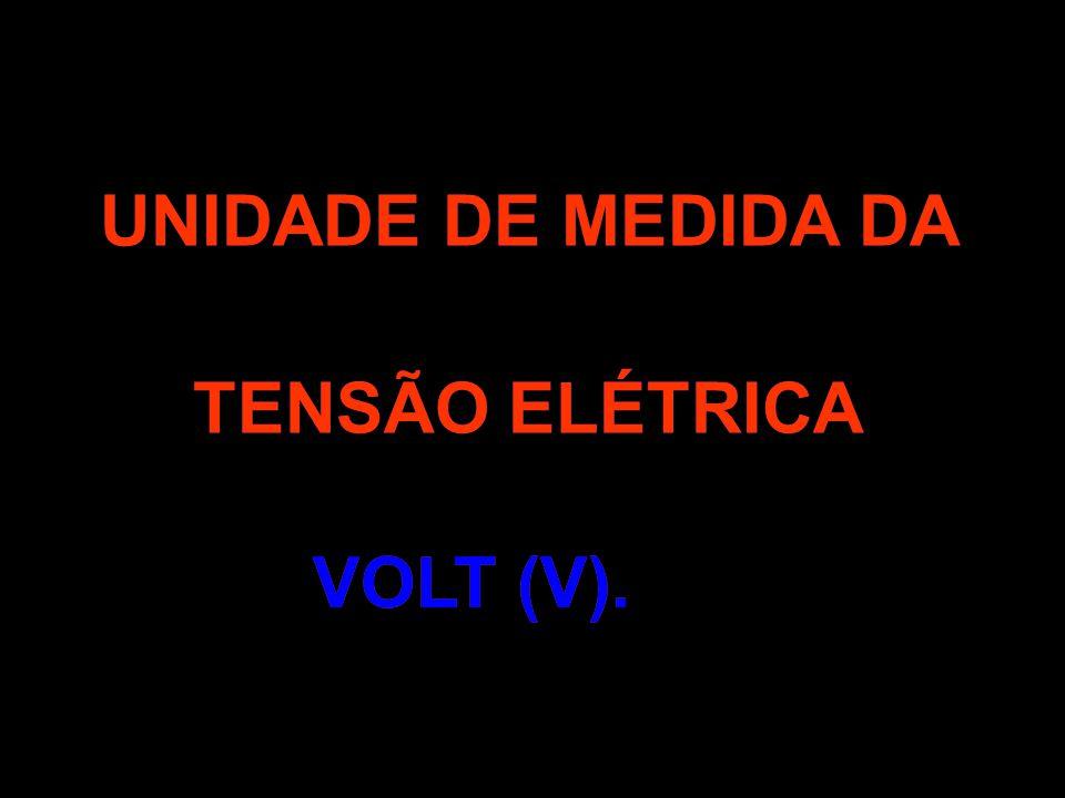 UNIDADE DE MEDIDA DA TENSÃO ELÉTRICA