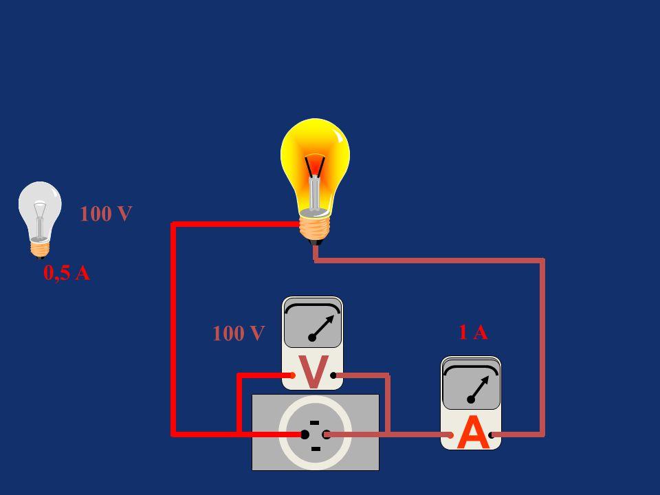 A 100 V V 1 A 0,5 A 100 V