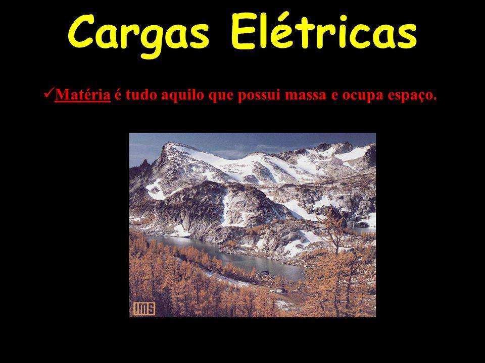 Cargas Elétricas Matéria é tudo aquilo que possui massa e ocupa espaço.