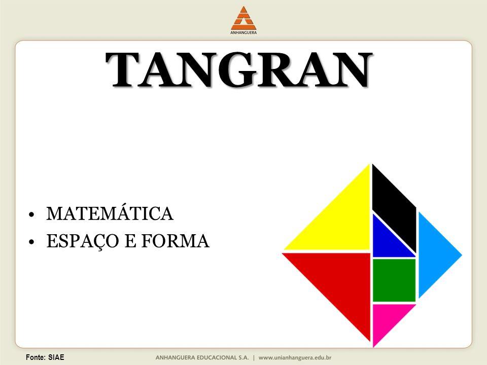 TANGRAN MATEMÁTICA ESPAÇO E FORMA Fonte: SIAE