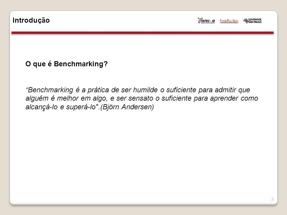 Introdução O que é Benchmarking