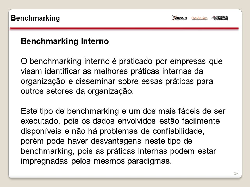 Benchmarking Benchmarking Interno.