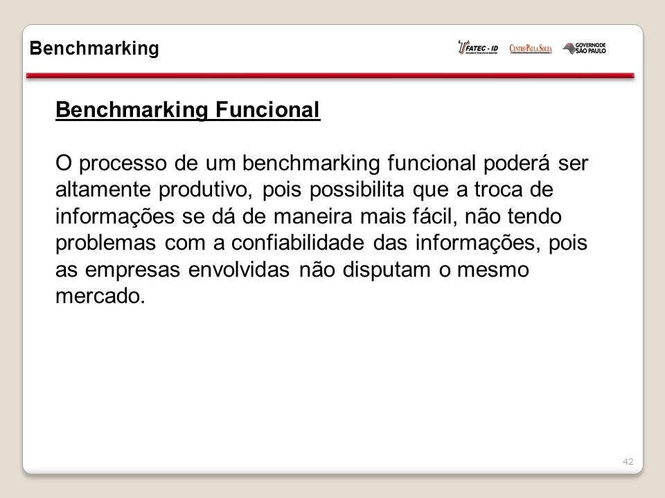 Benchmarking Funcional