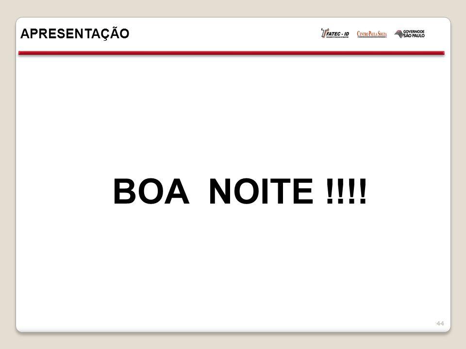 APRESENTAÇÃO BOA NOITE !!!!