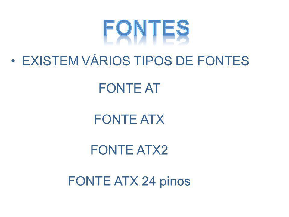 Fontes EXISTEM VÁRIOS TIPOS DE FONTES FONTE AT FONTE ATX FONTE ATX2