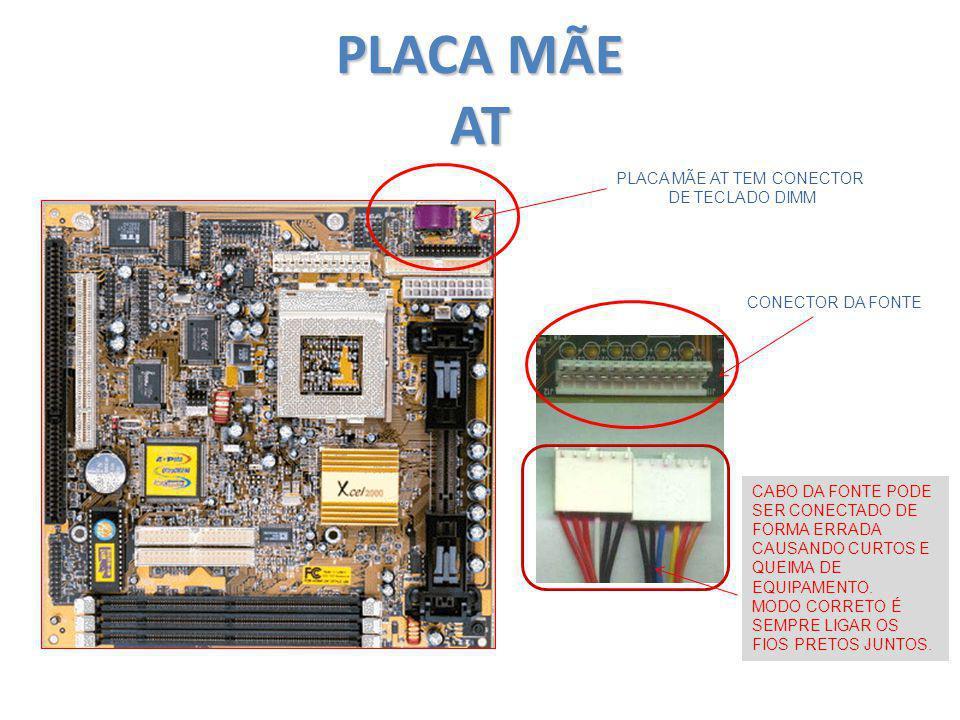 PLACA MÃE AT TEM CONECTOR