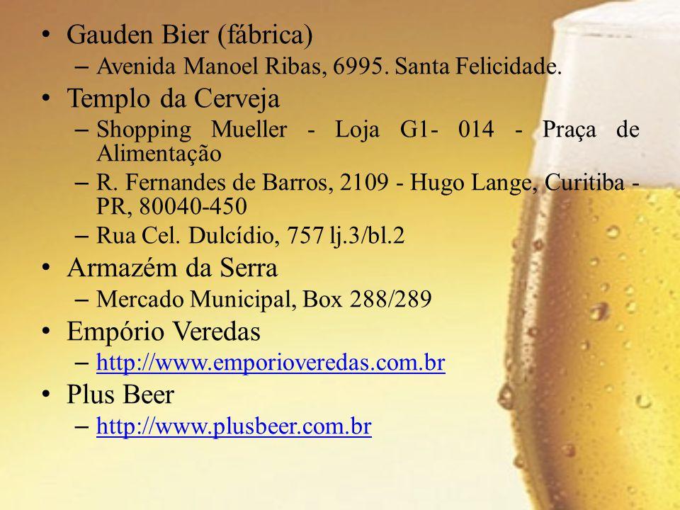 Gauden Bier (fábrica) Templo da Cerveja Armazém da Serra
