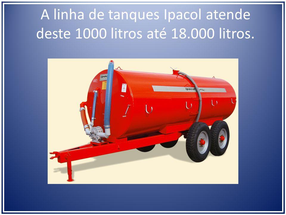 A linha de tanques Ipacol atende deste 1000 litros até 18.000 litros.