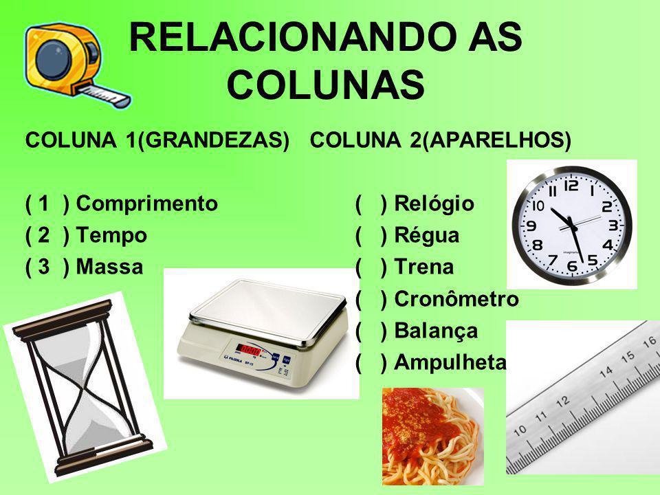 RELACIONANDO AS COLUNAS