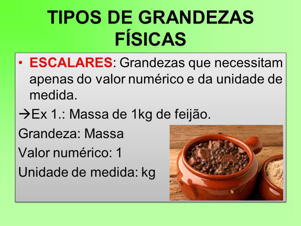 TIPOS DE GRANDEZAS FÍSICAS