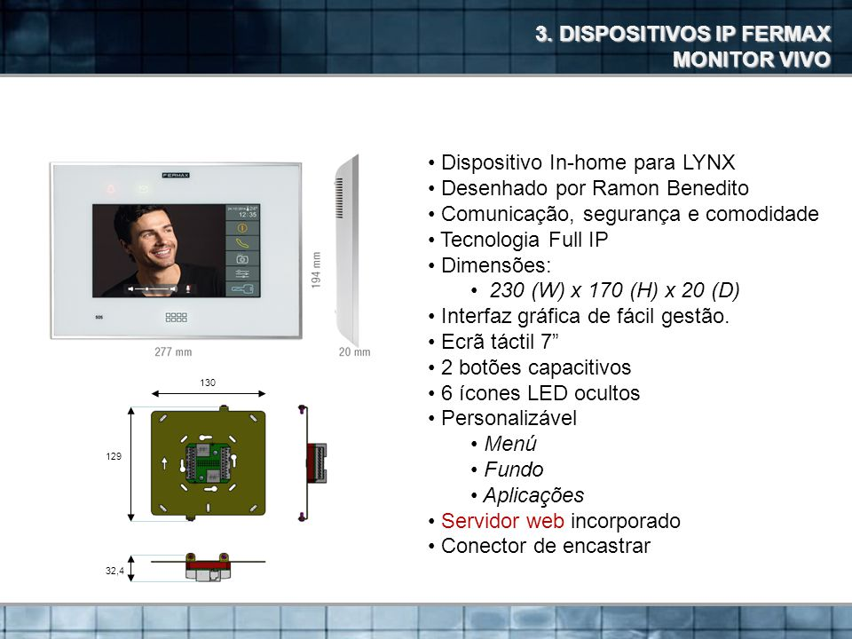 3. DISPOSITIVOS IP FERMAX MONITOR VIVO