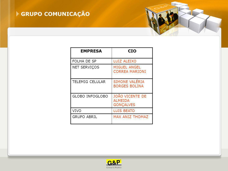 Comunicação GRUPO COMUNICAÇÃO EMPRESA CIO FOLHA DE SP LUIZ ALEIXO