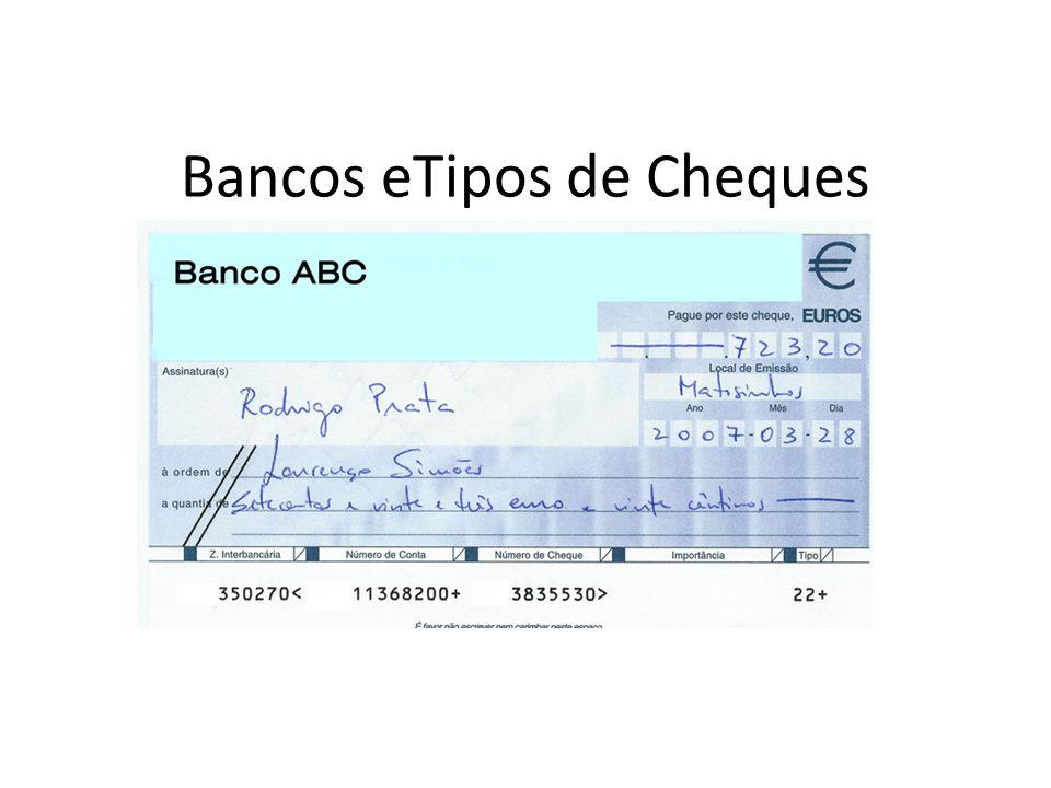 Bancos eTipos de Cheques