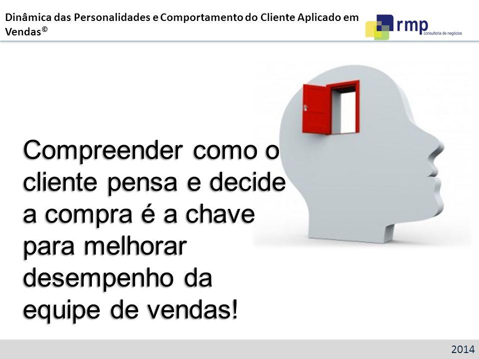 Dinâmica das Personalidades e Comportamento do Cliente Aplicado em Vendas©
