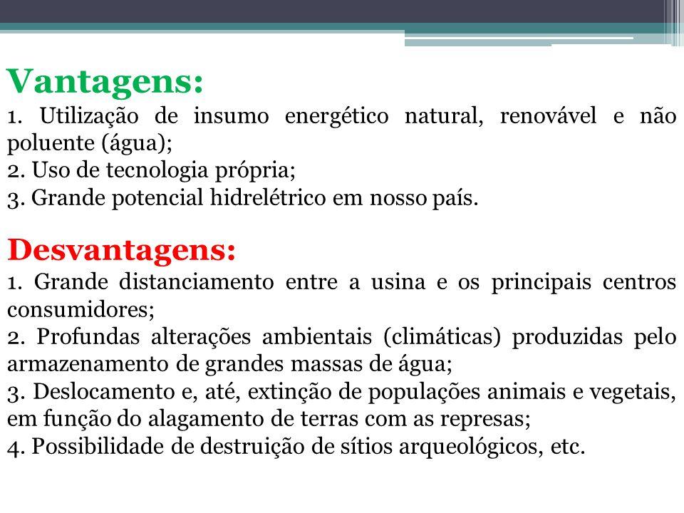 Vantagens: Desvantagens: