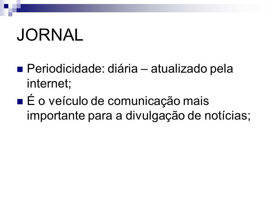 JORNAL Periodicidade: diária – atualizado pela internet;